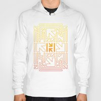 pacman Hoodies featuring PACMAN by HERENOW