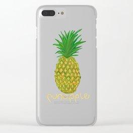 PUN-APPLE Clear iPhone Case