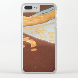 Spilled over Clear iPhone Case