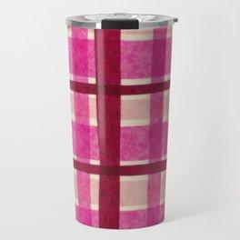 Tissue Paper Plaid - Pink Travel Mug