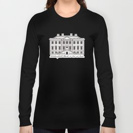 Sketch of Netherfield Park from Pride and Prejudice Long Sleeve T-shirt