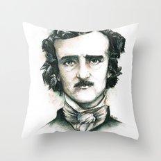 Edgar Allan Poe and Ravens Throw Pillow
