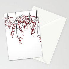 Baies rouges Stationery Cards