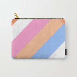 Matted Pastel Rainbow with White Carry-All Pouch