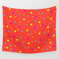 confetti Wall Tapestries featuring Confetti by White Wolf Wizard
