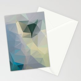Mint / Poster, Art Prints, Deco, Scandinavian Images, Geometric, Pastel Poster, Mountains, Minimalis Stationery Cards