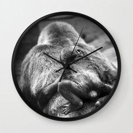 Gorillas baby Wall Clock