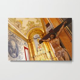 Jesus on the cross Metal Print