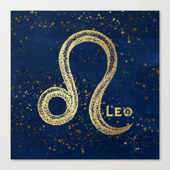 Leo Zodiac Sign Canvas Print