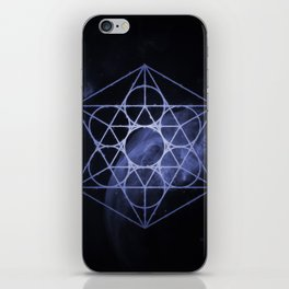 sacred geometry 01 // blue iPhone Skin