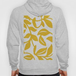 PALM LEAF VINE LEAF YELLOW PATTERN Hoody