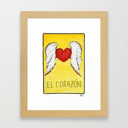 El Corazón Framed Art Print