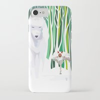 mononoke iPhone & iPod Cases featuring Princess Mononoke by youcoucou