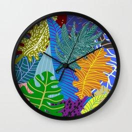 Lush Leaves Wall Clock