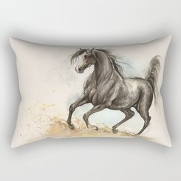 Golden dust under my hooves Rectangular Pillow