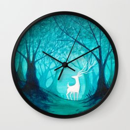 White Stag Wall Clock