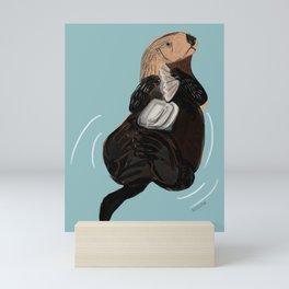 California Sea otter Mini Art Print
