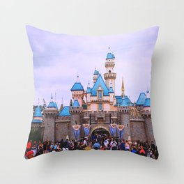 Sleeping Beauty Castle Throw Pillow