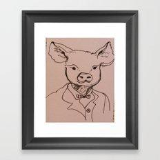 Sir Hog Framed Art Print