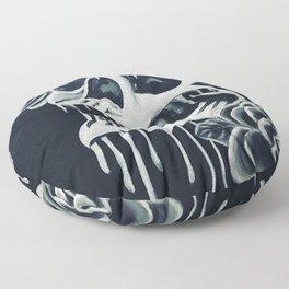 Black and White Skull Floor Pillow