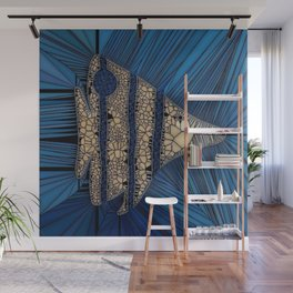 Fish Mosaic Wall Mural