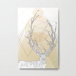 Webbed Antlers Metal Print