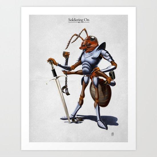 Soldiering On Art Print