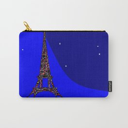 Paris at night in a Starry Sky Carry-All Pouch