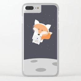 Astronaut Fox Clear iPhone Case
