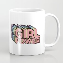 Girl Power grl pwr Retro Coffee Mug