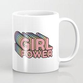 Girl Power grl pwr Retro Coffee Mug
