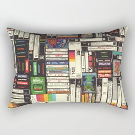 Cassettes, VHS & Atari Rectangular Pillow