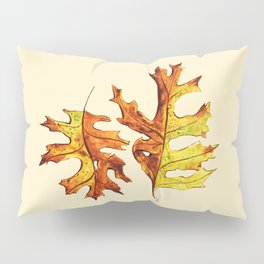 Ink And Watercolor Painted Dancing Autumn Leaves Pillow Sham