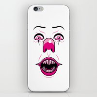 pennywise iPhone & iPod Skins featuring Pennywise by LuisD