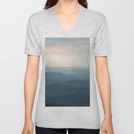 Layered mountains Unisex V-Neck