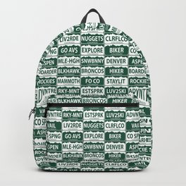 Colorado plates Backpack