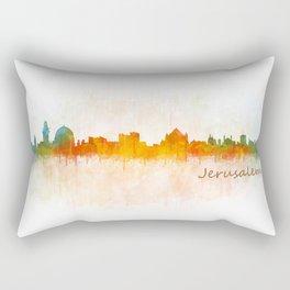 Jerusalem City Skyline Hq v3 Rectangular Pillow