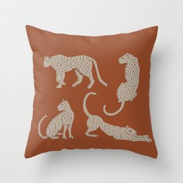 Leopard Block Party Throw Pillow