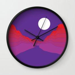 Amethyst Ravine Wall Clock