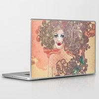 moustache Laptop & iPad Skins featuring Moustache by daniela grigore