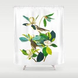 Warbling Flycatcher Bird Shower Curtain