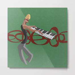 Jazz Trio - Pianist Metal Print