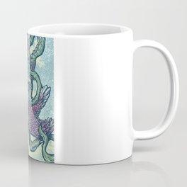5 Birds tangled in tentacles Coffee Mug