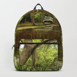 Magnolia Garden White Bridge Backpack