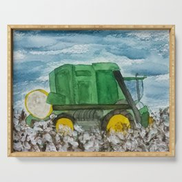 Cotton Picker Serving Tray