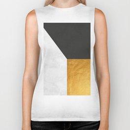 Golden Geometric Art XX Biker Tank