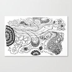 Geometric Stream Canvas Print