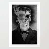 smoking Art Prints featuring Smoking by Havier Rguez.