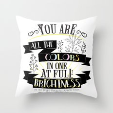 All The Bright Places by Jennifer Niven Book Quote Typography Throw Pillow