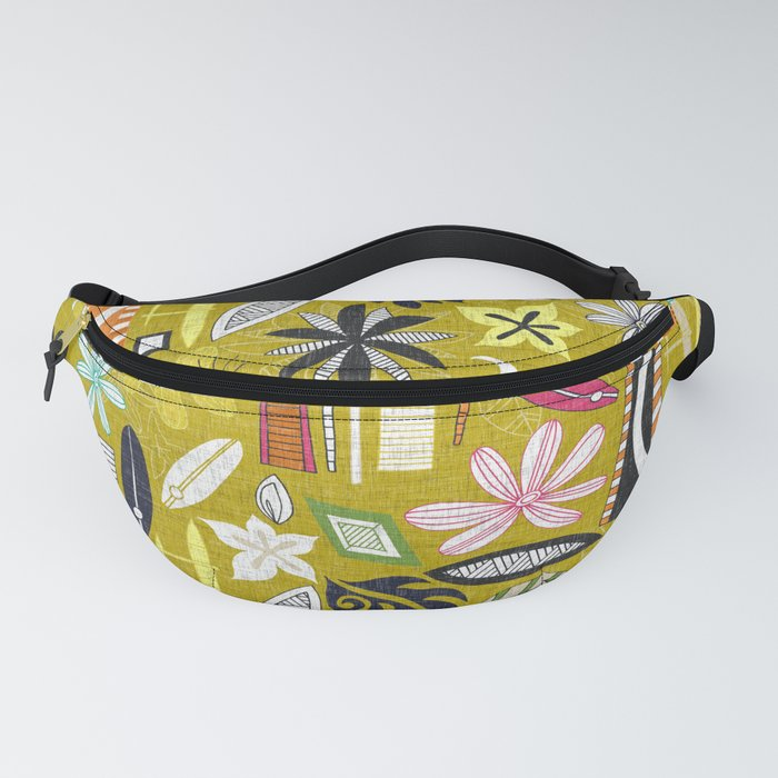 beachy yellow Fanny Pack